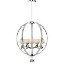 Artcraft AC10036CH - Piccadilly 5 Light  Chrome Chandelier