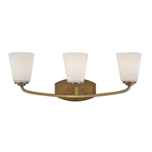 Artcraft AC10463VB - Hudson 3 Light  Vintage Brass Wall Bracket