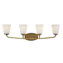 Artcraft AC10464VB - Hudson 4 Light  Vintage Brass Wall Bracket