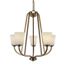 Artcraft AC10465VB - Hudson 5 Light  Vintage Brass Chandelier