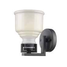 Artcraft AC10501BK - Franklin 1 Light  Black Wall Bracket