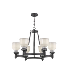 Artcraft AC10506BK - Franklin 6 Light  Black Chandelier