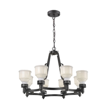 Artcraft AC10508BK - Franklin 8 Light  Black Chandelier