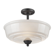 Artcraft AC10509BK - Franklin 3 Light  Black Flush Mount