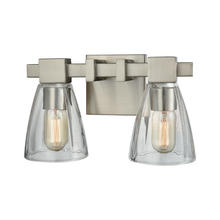 ELK Lighting 11981/2 - Ensley 2 Light Vanity In Satin Nickel With Clear