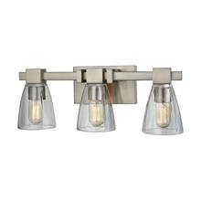 ELK Lighting 11982/3 - Ensley 3 Light Vanity In Satin Nickel With Clear
