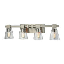 ELK Lighting 11983/4 - Ensley 4 Light Vanity In Satin Nickel With Clear