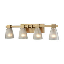 ELK Lighting 11993/4 - Ensley 4 Light Vanity In Satin Brass With Froste