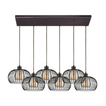 ELK Lighting 14293/6RC - Yardley 6 Light Rectangle Fixture In Oil Rubbed