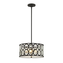 ELK Lighting 81124/3 - Serai 3 Light Chandelier In Oil Rubbed Bronze Wi