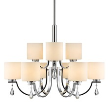 Golden 8037-9 CH-OP - 2 Tier - 9 Light Chandelier