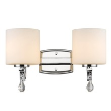Golden 8037-BA2 CH-OP - 2 Light Bath Vanity