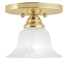Livex Lighting 1530-02 - 1 Light Polished Brass Ceiling Mount