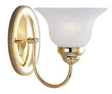 Livex Lighting 1531-02 - 1 Light Polished Brass Bath Light