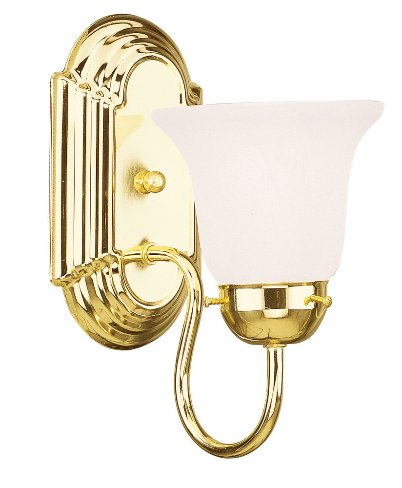 Lighting Solutions in Ringoes, New Jersey, United States,  1071-02, 1 Light Polished Brass Bath Light, Riviera