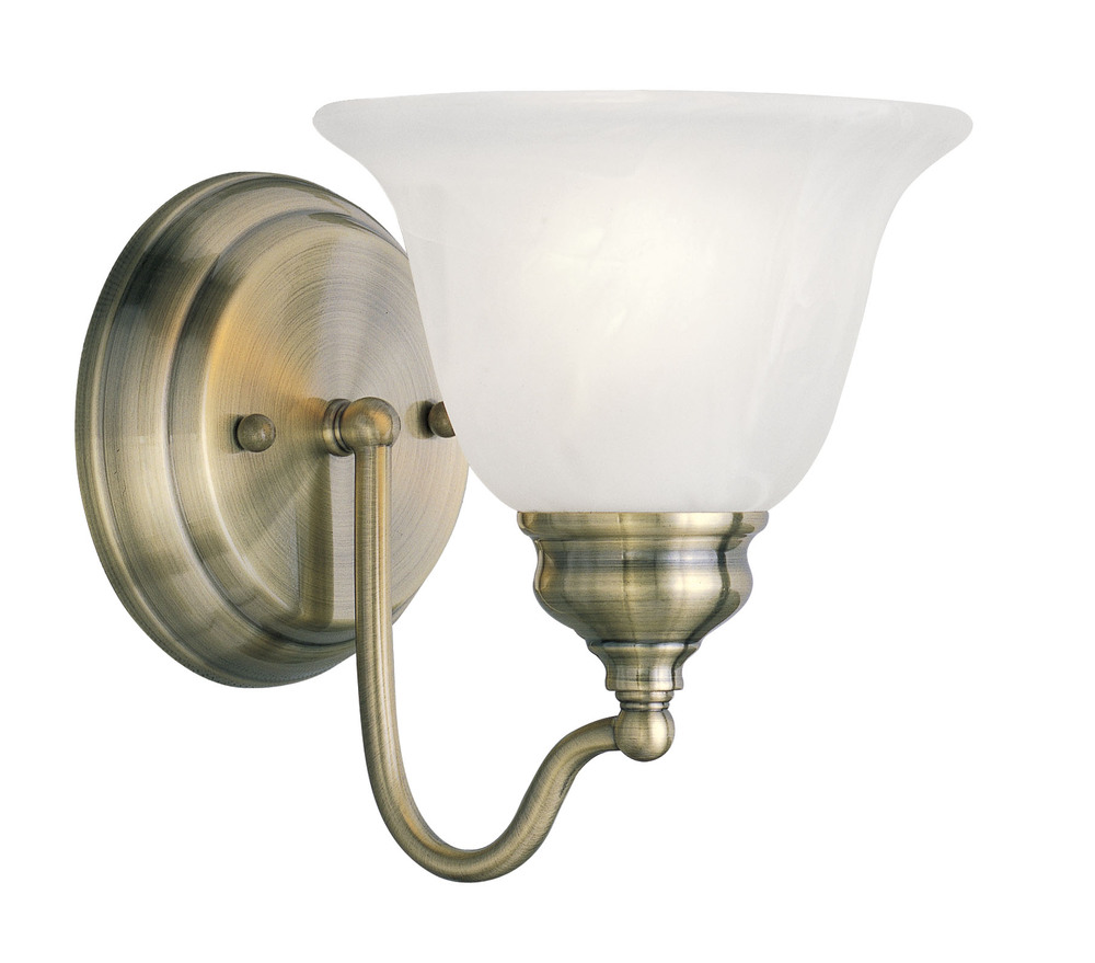 Lighting Solutions in Ringoes, New Jersey, United States,  1351-01, 1 Light Antique Brass Bath Light, Essex