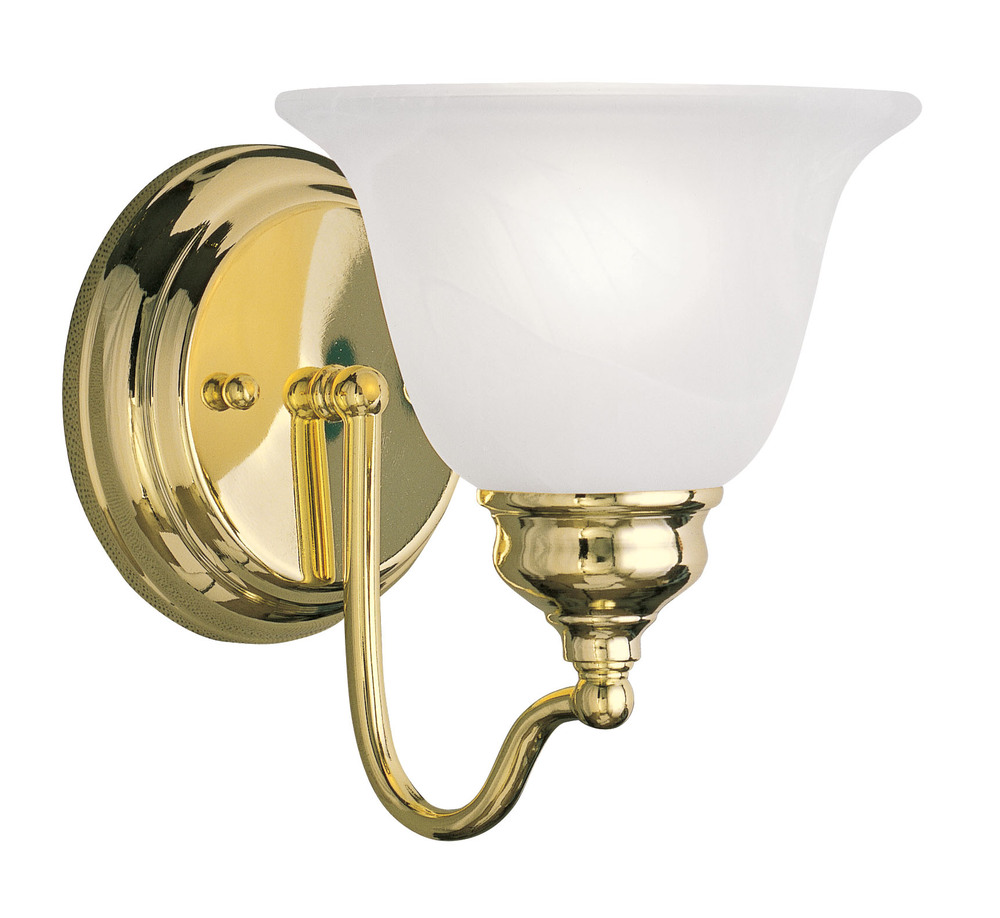 1 Light Polished Brass Bath Light