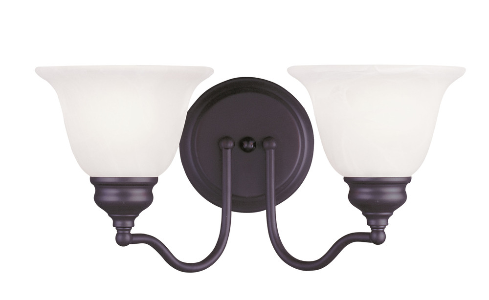 Lighting Solutions in Ringoes, New Jersey, United States,  1352-07, 2 Light Bronze Bath Light, Essex