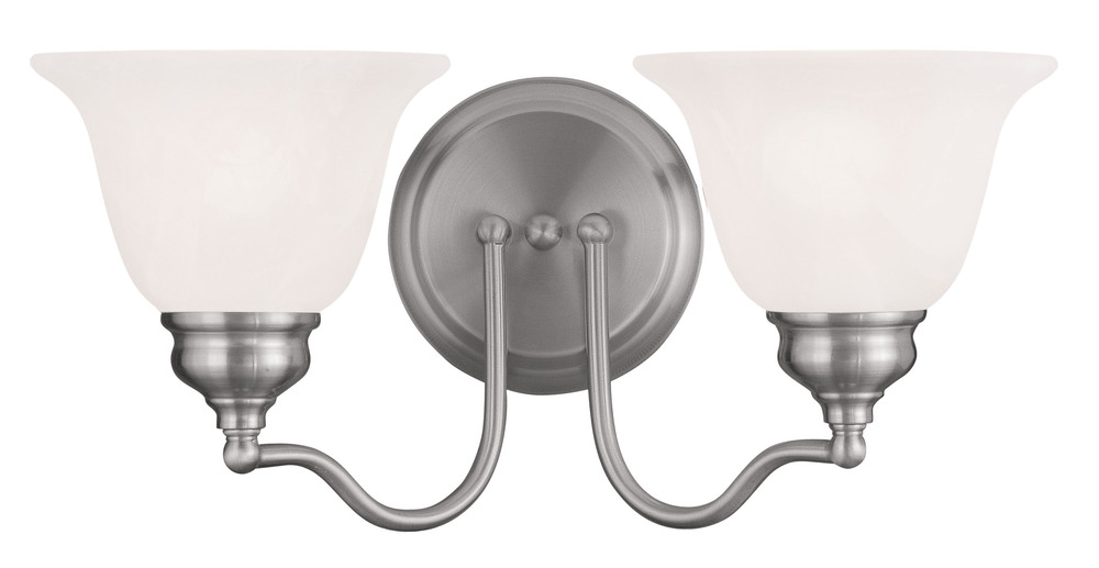 Lighting Solutions in Ringoes, New Jersey, United States,  1352-91, 2 Light Brushed Nickel Bath Light, Essex