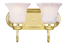 Livex Lighting 1072-02 - 2 Light Polished Brass Bath Light