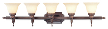 Livex Lighting 1195-58 - 5 Light Imperial Bronze Bath Light