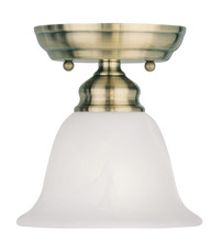 Livex Lighting 1350-01 - 1 Light Antique Brass Ceiling Mount
