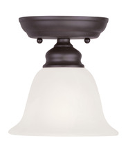 Livex Lighting 1350-07 - 1 Light Bronze Ceiling Mount