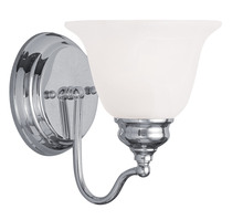 Livex Lighting 1351-05 - 1 Light Polished Chrome Bath Light