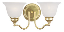 Livex Lighting 1352-02 - 2 Light Polished Brass Bath Light