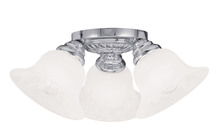 Livex Lighting 1529-05 - 3 Light Polished Chrome Ceiling Mount