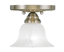 Livex Lighting 1530-01 - 1 Light Antique Brass Ceiling Mount