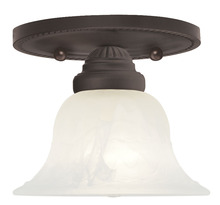 Livex Lighting 1530-07 - 1 Light Bronze Ceiling Mount