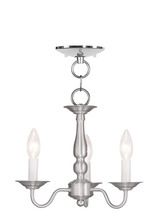 Livex Lighting 5009-91 - 3 Light BN Chain Hang/Ceiling Mount