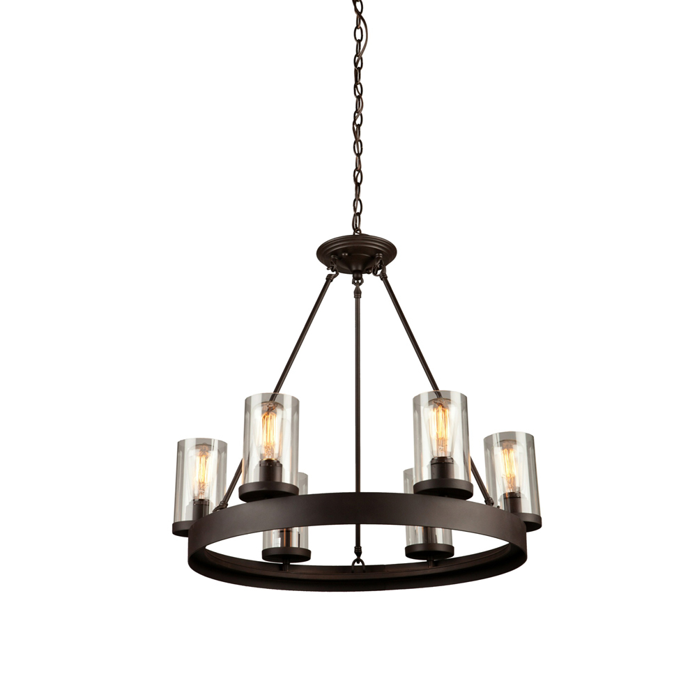 Lighting Solutions in Ringoes, New Jersey, United States,  AC10006, Menlo Park 6 Light  Oil Rubbed Bronze Chandelier, Menlo Park