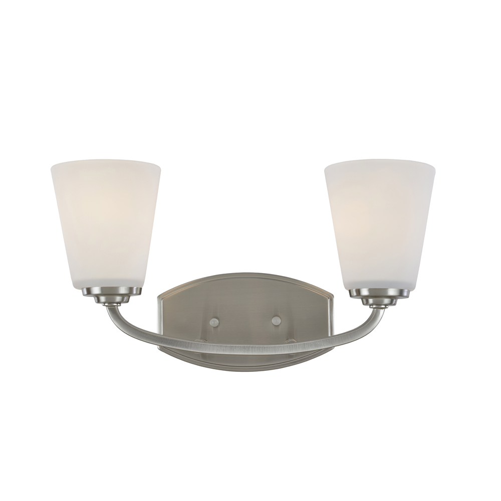 Lighting Solutions in Ringoes, New Jersey, United States,  AC10462BN, Hudson 2 Light  Brushed Nickel Wall Bracket, Hudson