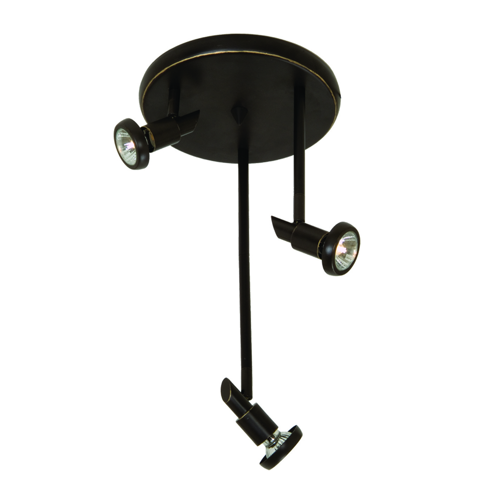 Shuttle 3 Light Oil Rubbed Bronze Track Light