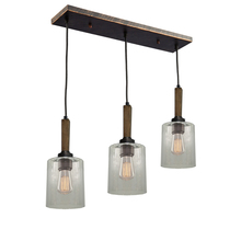 Artcraft AC10143BU - Legno Rustico 3 Light  Brunito Island Light
