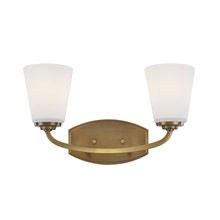 Artcraft AC10462VB - Hudson 2 Light  Vintage Brass Wall Bracket