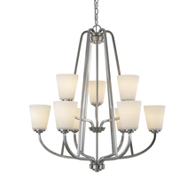 Artcraft AC10469BN - Hudson 9 Light  Brushed Nickel Chandelier