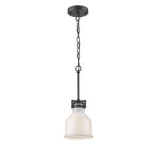 Artcraft AC10500BK - Franklin 1 Light  Black Pendant