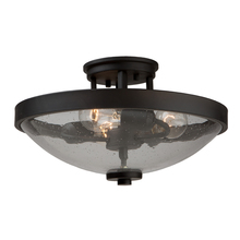 Artcraft AC10534JV - San Antonio 3 Light  Java Brown Semi Flush