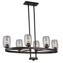 Artcraft AC10536JV - San Antonio 6 Light  Java Brown Chandelier