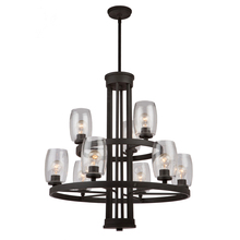 Artcraft AC10539JV - San Antonio 9 Light  Java Brown Chandelier