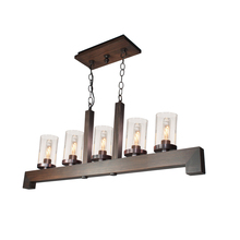 Artcraft AC10565BU - Jasper Park 3 Light  Bronze Island Light