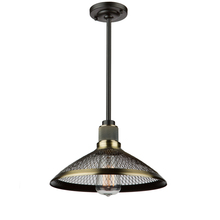 Artcraft AC10627 - Wellington 1 Light  Vintage Brass Pendant