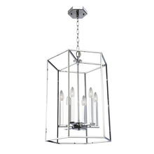 Artcraft AC10772CH - Modern Elegance 6 Light  Chrome Chandelier