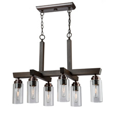 Artcraft AC10866BU - Home Glow AC10866BU 6 Light Chandelier