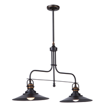 Artcraft AC1472BZ - Heath 2 Light  Bronze Island Light