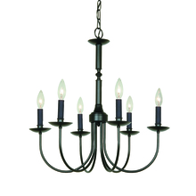 Artcraft AC1787EB - Wrought Iron 6 Light  Black Pot Rack