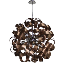 Artcraft AC602CO - Bel Air 12 Light Pendant in Brushed Copper & Chrome